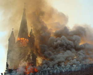 image: church... fire