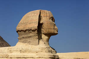 image: Sphinx head detailed